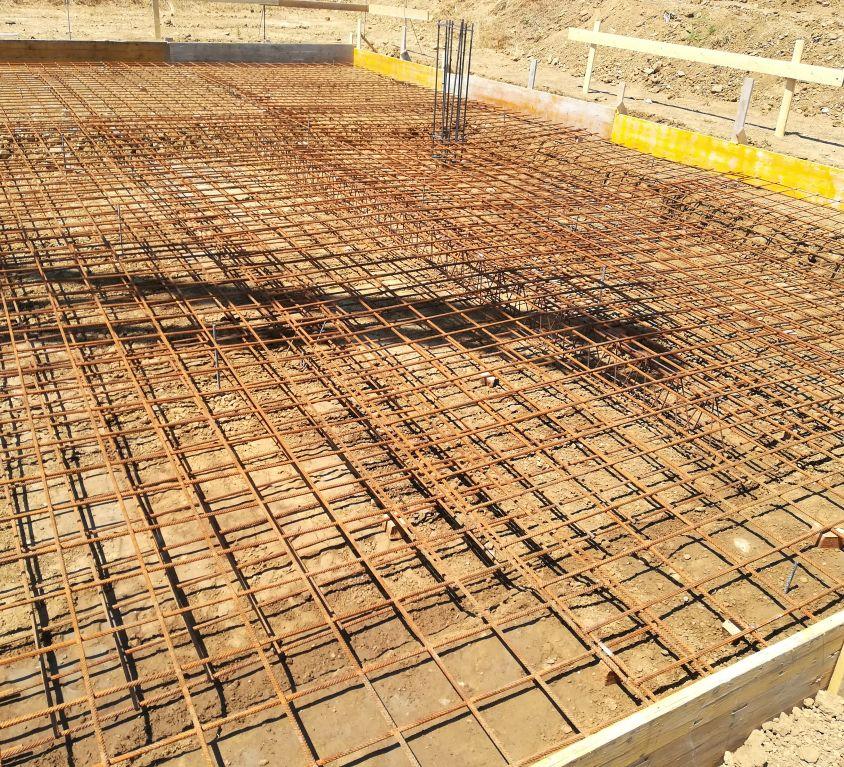 Realizzazione di fondazione in cemento armato